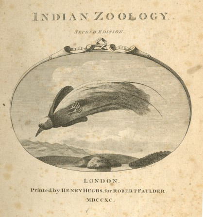 Pennant Thomas Indian Zoology  2nd ed. London printed by Henry Hughs for Robert Faulder 1790 1791.gif