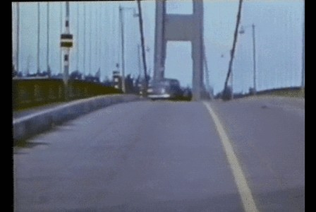 Tacoma Narrows Bridge twist again in Tacoma.gif