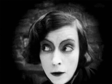 The brilliant Danish actress Asta Nielsen starring as a female Hamlet in 1921 soupçon tiens tiens.gif