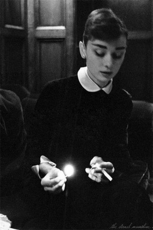 the eternal moonshine Audrey Hepburn.gif