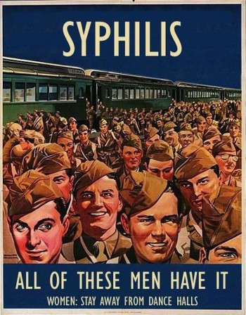 American anti-STD poster during WW2 Syphillis Guerre.jpg