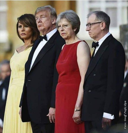 Donald Trump Theresa May et Woody Allen.jpg