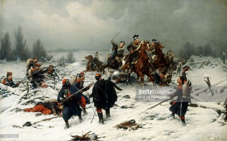 Christian Sell Prussian Uhlans Attacking French Zoaves, Franco Prussian War.jpg