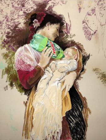 Eric Yahnker Mother's Dew mère à l'enfant.jpg