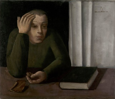 Felix Nussbaum Portrait of an Unidentified Man 1941 l'homme à la feuille.jpg