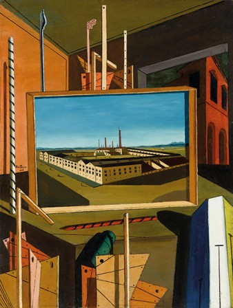 Giorgio de Chirico Interno metafisico con grande officina Metaphysical Interior with big factory 1916.jpg