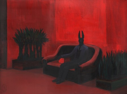 Joanna Karpowicz  Anubis On The Red Couch.jpg