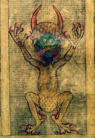 The Codex Gigas aka the Devil's Bible Benedictine monastery of Podlažice Bohemia  13th c  diable change complet pour adulte.jpg