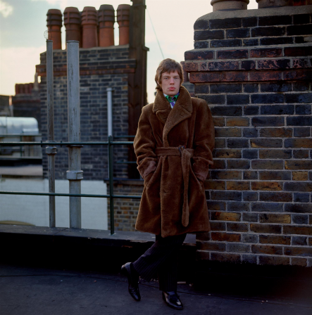 Gered Mankowitz Mick Jagger on the roof of Harley House London UK 1966.png