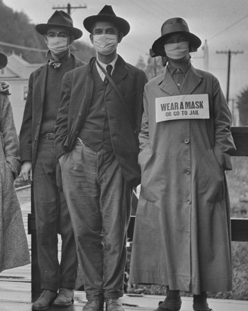 Wear a mask or go to Jail The use of masks during the Spanish flu pandemic masque.jpeg, oct. 2020